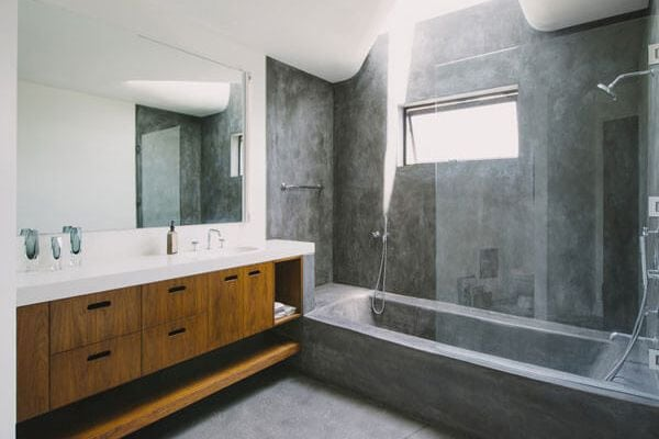 grey modern bathroom